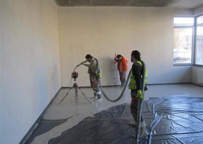 Čerpání anhydritové podlahové směsi