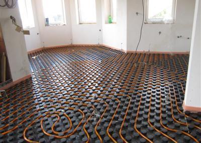 Příprava na podlahové vytápění
