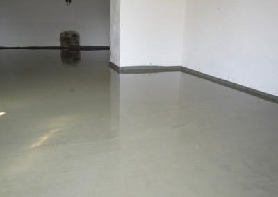 cementový potěr (garáž)