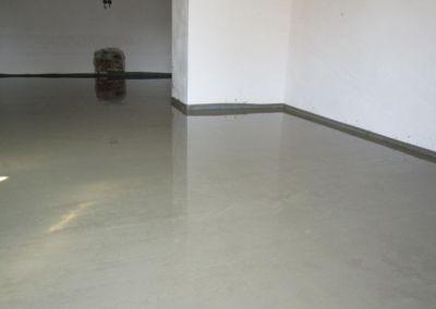 cementový potěr do garáže