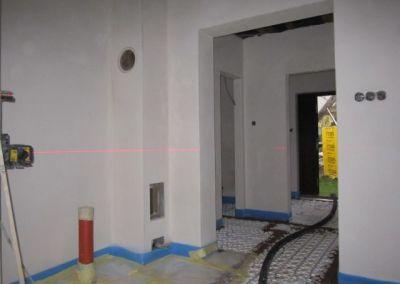 nastavení výšek pomocí laseru